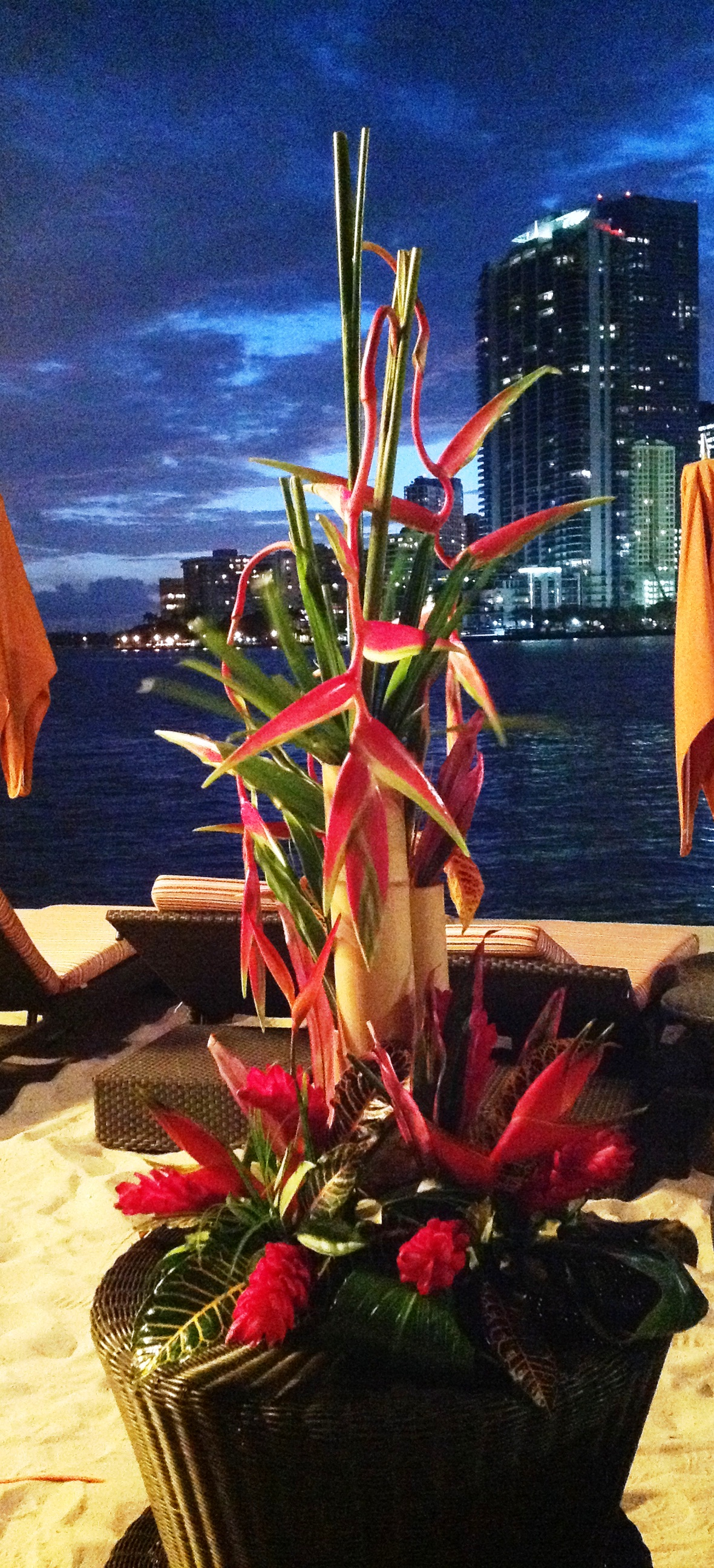 Bamboo Buffet Piece Looking Out